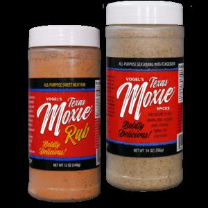 Texas Moxie Spices - Combo Pack All-Purpose Seasoning & Sweet Heat Rub