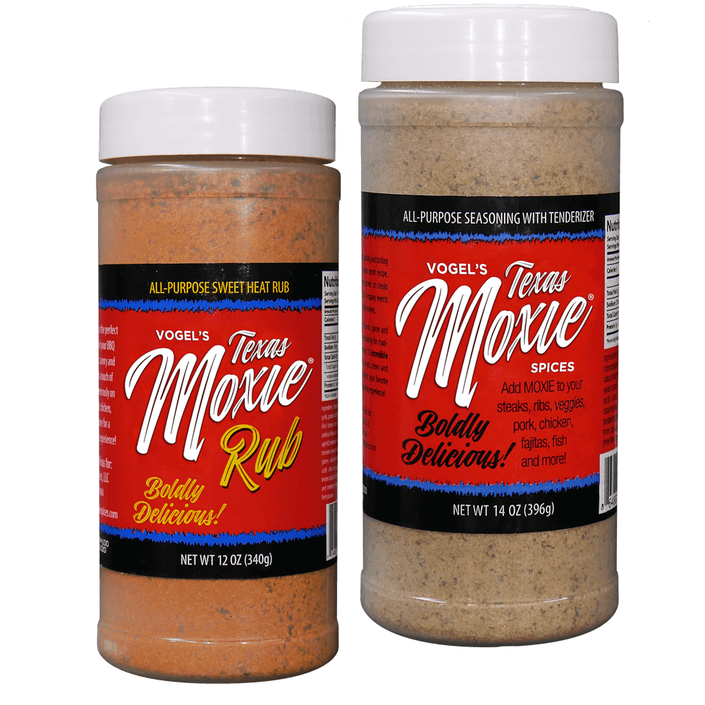 Texas Moxie Spices - Combo Pack All-Purpose Seasoning & Sweet Heat Rub